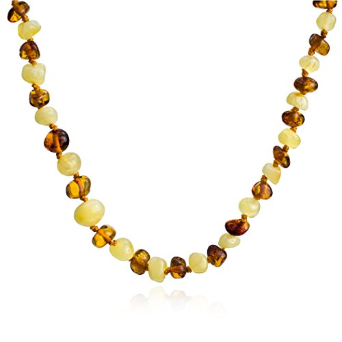 Multicolor Amber Strand Freeform Necklace product image