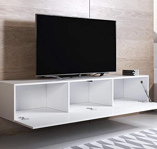 Mueble TV Modelo Luke H2 (160x30cm) Color Blanco: Amazon.es: Hogar
