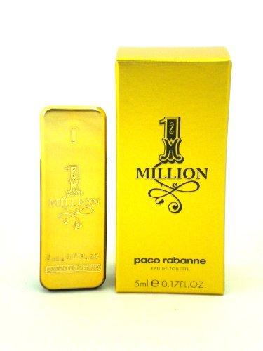 1 Million by Paco Rabanne 5 ml / 0.17 oz Men's Eau De Toilette Mini (1 Million Eau De Toilette Paco Rabanne)