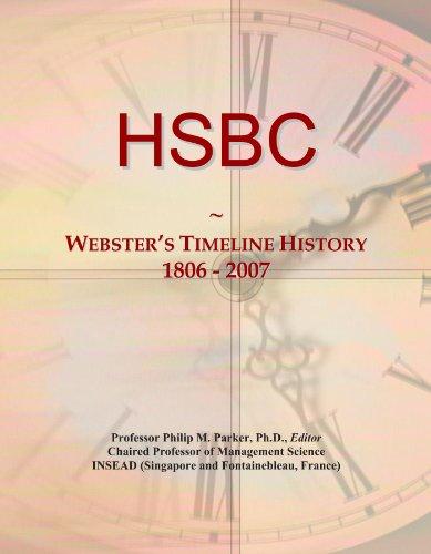 Hsbc  Websters Timeline History  1806   2007