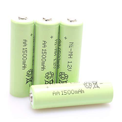 4Pcs AA 1.2v 1500mAh NiMH Rechargeable Batteries for Outdoor Garden Solar...