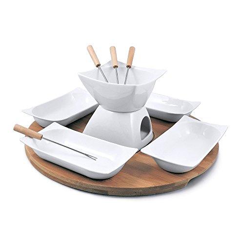 Swissmar Bamboo (Swissmar Sensui 12 Piece Chocolate Fondue Set, White)