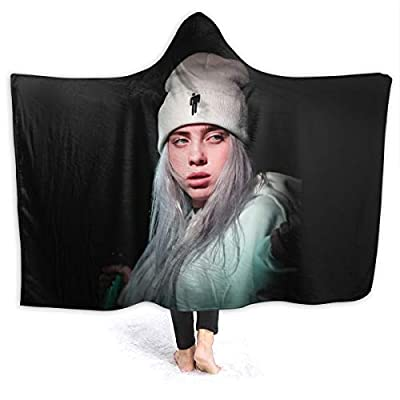 JoBag Billie Eilish Kids Child Thow Blanket with Hat Warm Blanket Soft Cap Bedspread for Home Travel Sofa Blanket 50X40/60X50/80X60 Inch: Home & Kitchen