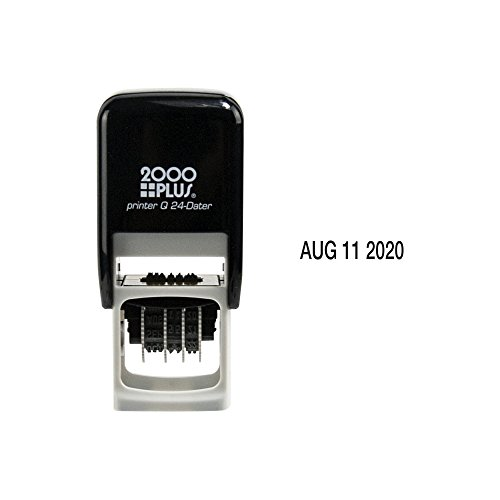 2000 Plus Self Inking Q24 Square Date Stamp - black (Square Self Inking)