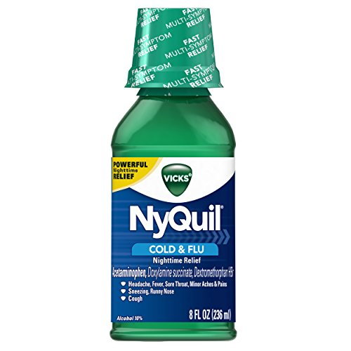 Price comparison product image Vicks NyQuil Cold & Flu Nighttime Relief, Original Liquid 8 Fl Oz (Pack of 12)