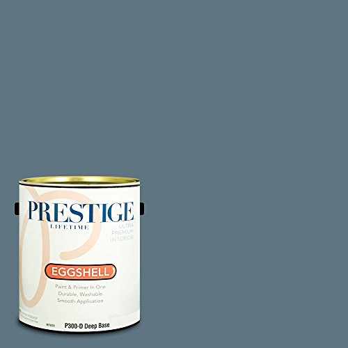 Prestige Paints Interior Paint and Primer In One, 1-Gallon, Eggshell,  Comparable Match of Benjamin Moore Thousand Oceans