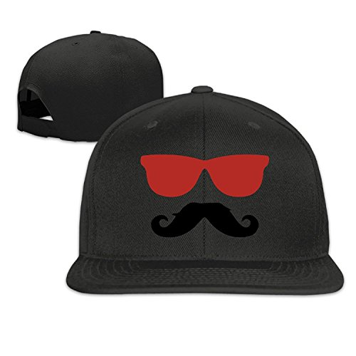Unisex Cowboy Moustache Sunglasses Adjustable Snapback Trucker Cap Black One - Fat Sunglasses Joe