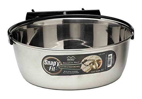 MidWest Homes for Pets Snap'y Fit Stainless Steel Food Bowl / Pet Bowl, 2 qt. for Dogs & Cats Review