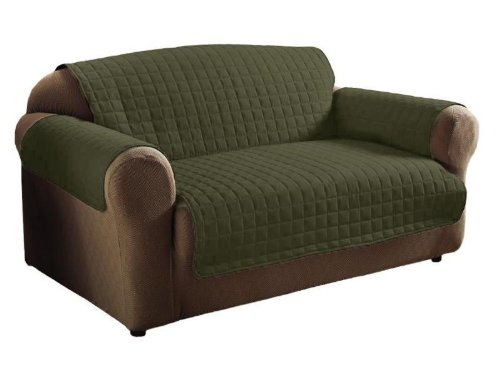 Legacy Decor 2PC Sage Soft Micro Suede Couch Sofa and Loveseat Pet Furniture Slip Covers