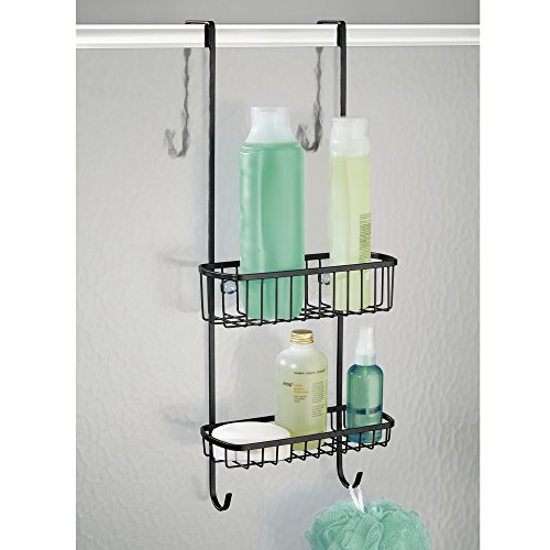 mDesign Bathroom Over Shower Door Caddy for Shampoo, Cond...
