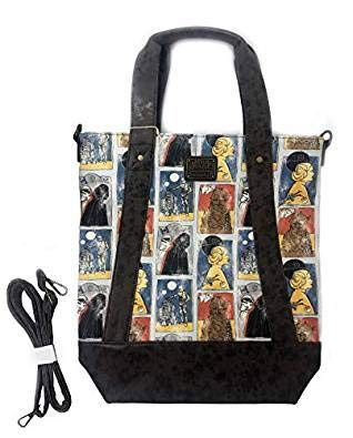 Multicolord Loungefly x Star Wars Cards Crossbody Tote Bag
