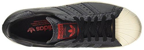80s Superstar Adidas Chaussures De Sport Pour Hommes Bas-top Noir (âme Noire / Rouge Noyau Noir / Solaire)