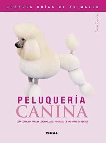 guias de animales peluqueria canina portada rosa con caniche color blanco