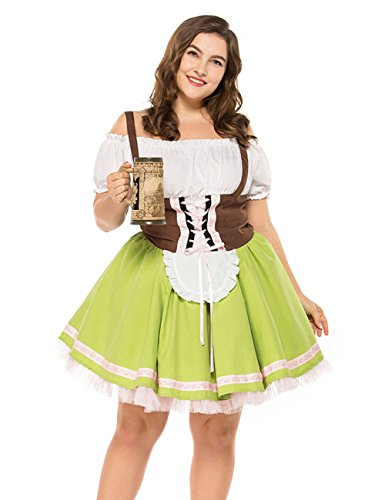 Colorful House Womens Oktoberfest Beer Maid Fancy Dress Costume (Size M, -