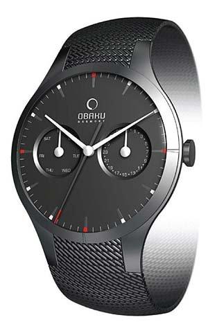 Obaku Men's V100GBBMB Black Stainless-Steel Quartz Watch with Black Dial