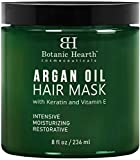 Botanic Hearth Argan Oil Hair Mask - Deep Conditioning Keratin Hair Treatment with Vitamin E - Moisturizing and Restorative, 8 fl oz