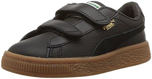 PUMA Kids Basket Classic Gum Deluxe Velcro Sneaker