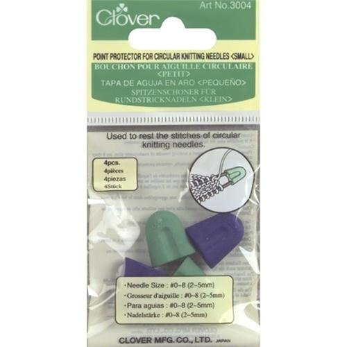 Clover Point Protectors for Circular Needles-For sizes 0-8