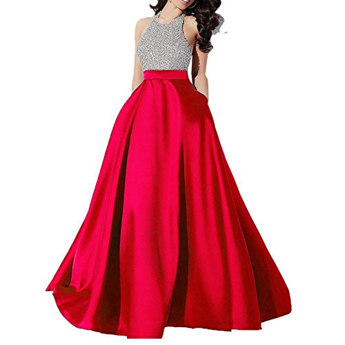 Buy Design Mart Women S Taffeta Silk Skirt Sequence Work Unstitched Crop Top Lehenga Choli Red Large Free Size At Amazon In