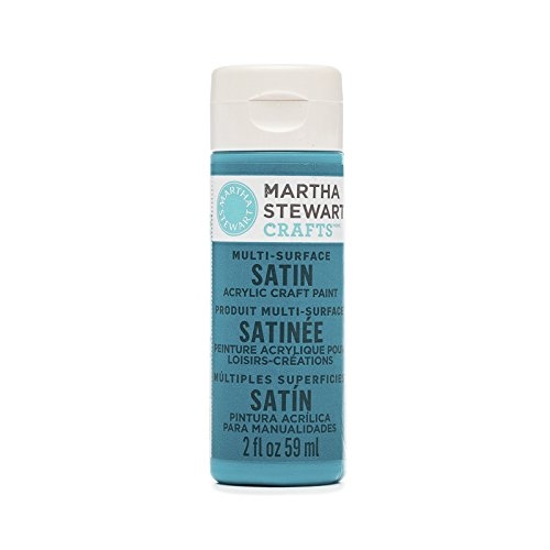 Satin Enterprise - Martha Stewart Multi-Surface Satin Acrylic Paint: Peacock Feather, 2 oz