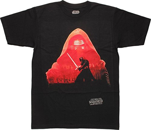 Star Wars Force Awakens Kylo Ren Silhouette Army T-shirt (Medium,Black)