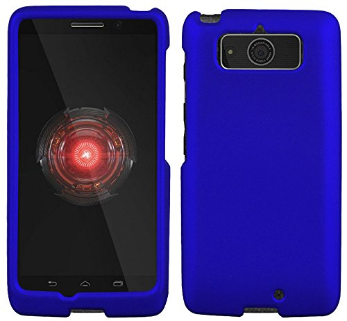 Protective Case For Motorola Droid Mini XT1030 Slim Two Piece Snap On Case Hard Plastic Rubberize Feel Dark Blue