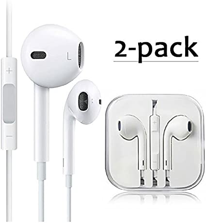 2 Pack] Auriculares de Alambre Auriculares con Micrófono Auriculares y Mando a Distancia para iPhone/iPod/iPad/Samsung Galaxy (WHITE): Amazon.es: Instrumentos musicales