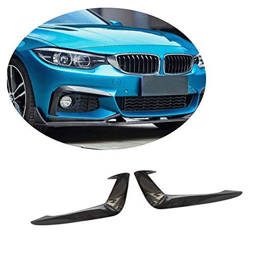 MCARCAR KIT Front Fog Lamp Vent fits BMW 4 Series F32 F33 F36 M Sport 2Door 4Door 2014-2018 Customized 418i 420i 428i 435i 440i M-tech Carbon Fiber CF Foglights Air Fender Scoop Spoiler Trims