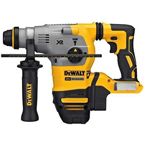 "DEWALT DCH293B 20V Max XR Brushless 1-1/8"" L-Shape SDS Plus Rotary Hammer Drill (Tool Only)"
