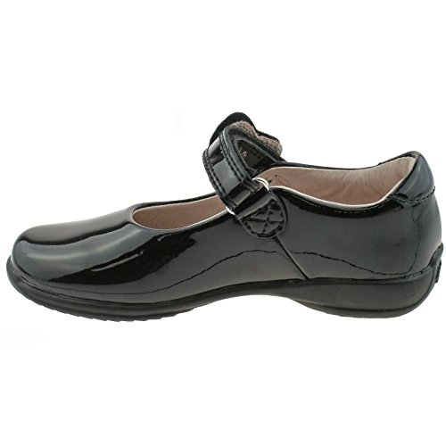 33 Heart Patent Colourissima 1 Shoes LK8540 Black UK Lelli Kelly School DB01 G Fitting xwYFqYtPI
