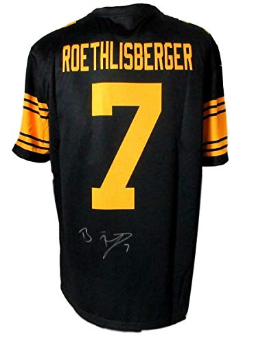 Ben Roethlisberger Authentic Jersey - Signed Ben Roethlisberger Jersey - Black Nike Color Rush Fanatics 144002 - Fanatics Authentic Certified