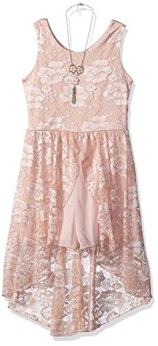 Amy Byer Girls Big Allover Lace Walk-Through Dress