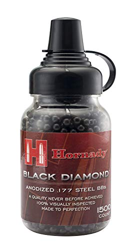 : Umarex 2211056 Hornady Black Diamond .177 Caliber Steel BB Gun BBs (1500 Count)