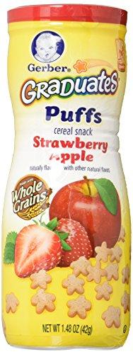 Gerber Graduates Puffs Strawberry Apple , 1.48 oz