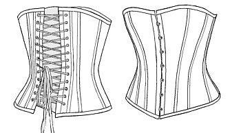 (1880 Late Victorian Corset Sewing Pattern)