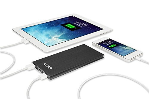 Koar 8000mAh Portable Battery Outputs