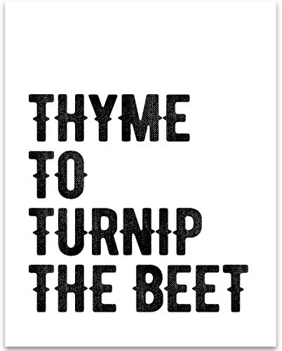 Thyme to Turnip the Beet - 11x14 Unframed Typography Art Print - Great Kitchen Decor Under $15