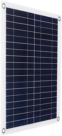 Panjianlin Solar-Panel Semiflexible tragbares Auto und Schiff notaufladen Brett 30W Solar-Panel Camping-Reisen (Color : Black, Size : 30w)