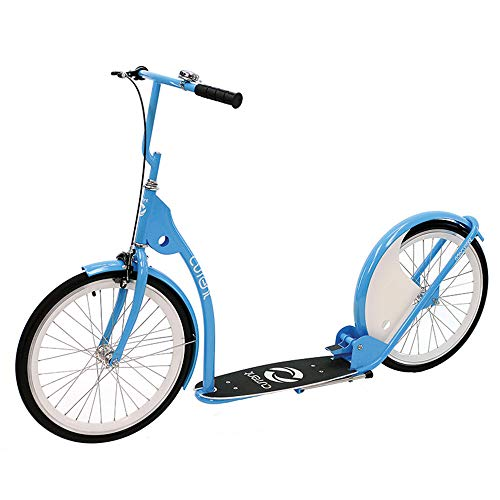 - Current Coasters Kickbike Scooter for Teens and Adults, Labrador Blue, 20
