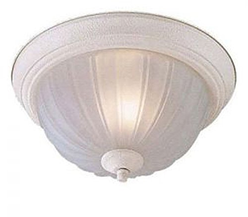 Minka Lavery Flush Mount Ceiling Light 828-86-PL Low Profile Fixture, 1-Light CFL 13 Watts, Textured -
