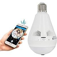 HAYUL Wifi Light Bulb Security Camera IP Camera with IR Night Vision Fisheye 360 Smart Camera