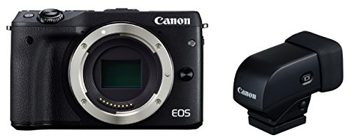 Canon EOS M3 Body (Black) with EVF-DC1 Electronic ViewFinder Kit - International Version (No Warranty)