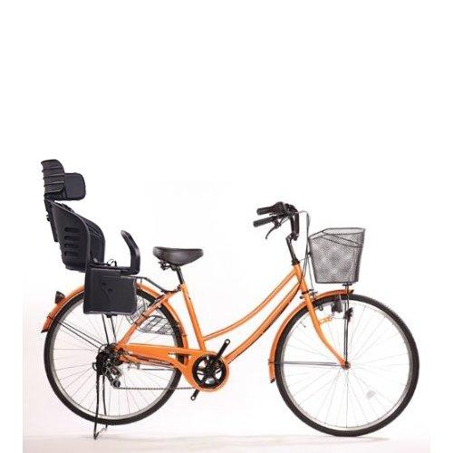 Lupinusルピナス 自転車 26インチ LP-266UD-KNRJ-BK 軽快車 シマノ外装6段ギア ダイナモライト 樹脂製後子乗せブラック B073LLFKJN オレンジ オレンジ