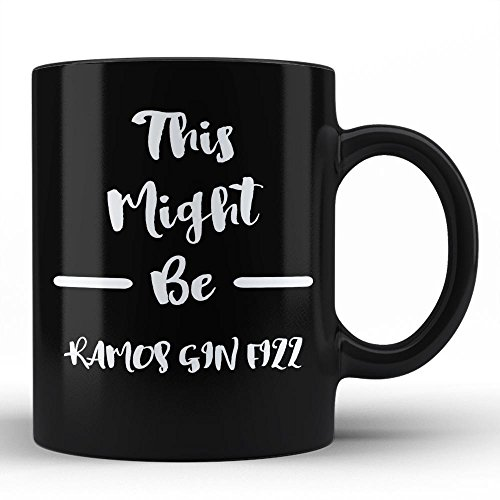 Funny Sarcastic Mug For Ramos Gin Fizz Lover Gift for Ramos Gin Fizz Drinker Cocktail Alcohol Humour Black Coffee Mug By HOM For Friends Family Neighbours Fellas Unique Gifting Idea