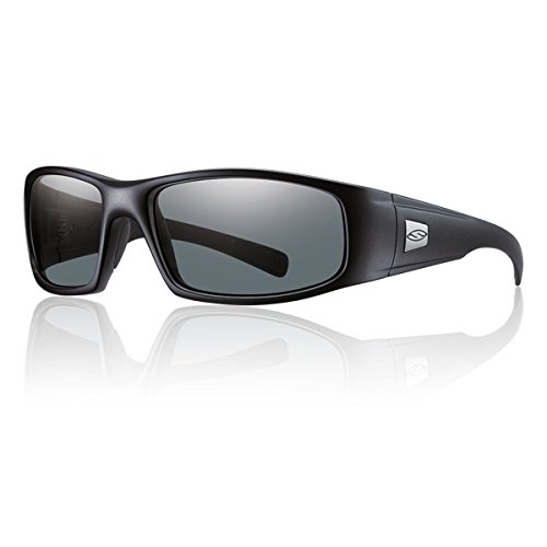 Smith Optics Hideout Tactical Sunglass with Black Frame (Polarized Gray Lens)