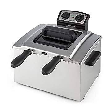 Klarstein QuickPro XXL 3000 Freidora • Tanque 5 L • Potencia 3000 W • Temperatura regulable • Hasta 190 °C • Temporizador • Visor en tapa ...