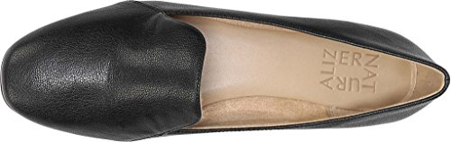 Naturalizer Damen Emiline Slip-On Loafer Schwarz Tumble Leder