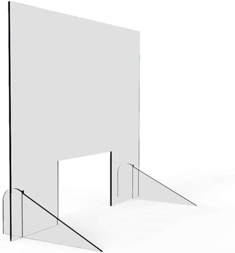 HSBAIS Mampara De ProteccióN, Transparente Mampara mostrador Acrílico Mampara Pantalla Proteccion Plexiglás Pantalla de protección para mostrador, oficinas y comercios,40x40cm: Amazon.es: Hogar