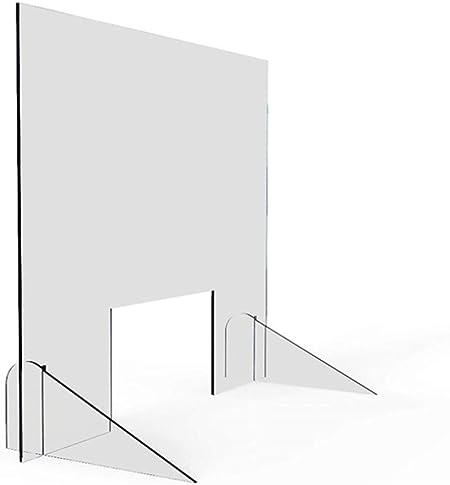 HSBAIS Mampara De ProteccióN, Transparente Mampara mostrador Acrílico Mampara Pantalla Proteccion Plexiglás Pantalla de protección para mostrador, oficinas y comercios,50x50cm: Amazon.es: Hogar