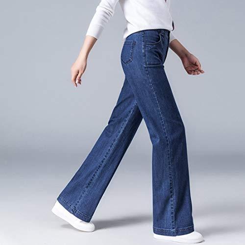 Sottili A Cotone Jeans Shizheshop E Donna Alta Vita Small Da Blue Blue Larghi 18tztx